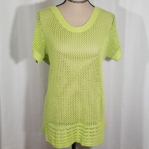 Christopher & banks knitted green top. Size PS